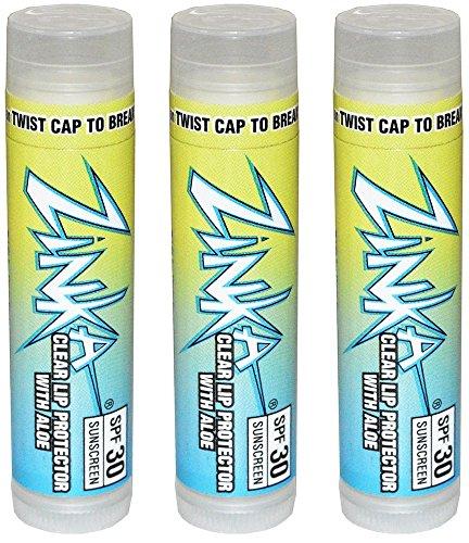 Zinka SPF 30 Sunscreen Clear Lip Balm with Aloe