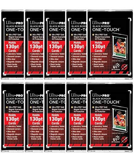 Ultra Pro Black Border One-Touch Card Holder 130pt (10 Pack)