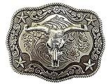 Nocona Antique Silver Skull Gürtelschnalle Western Buckle Cowboy USA