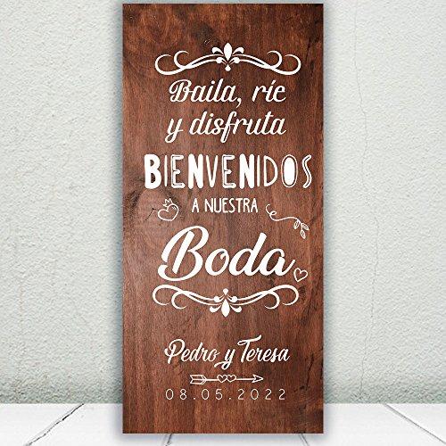 Decoración Boda   Cartel Boda Baila & Ríe   70cm x 150cm