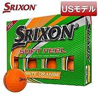 USモデルスリクソン ソフトフィール ブライトオレンジ ゴルフボール