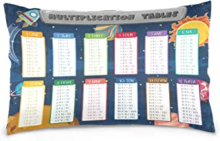 KGuanJi Multiplication Table 20x30 inch Pillow Case Pillowslip Cushion Cover Pillowcases Protectors Slip Bed