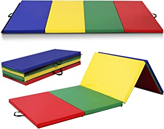 Giantex 4'x10'x2 Thick Gymnastics Mat, High Density Anti-Tear Folding..