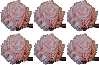 idyllic 5 Inches Kissing Flower Foam Ball Romantic Rose Pomander Pink for Wedding Centerpieces Decorations Soft Touch 4 Pack