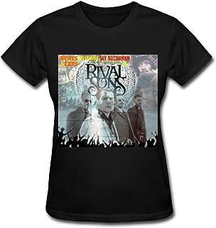 SHUNFA Women's Rival Sons T-shirt Black