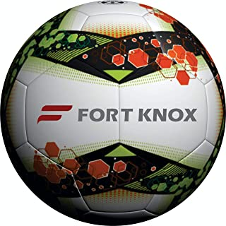 KIX ORN/GRN Soccer Ball   PU Leather Ball   Best for Football Enthusiasts and Soccer Player