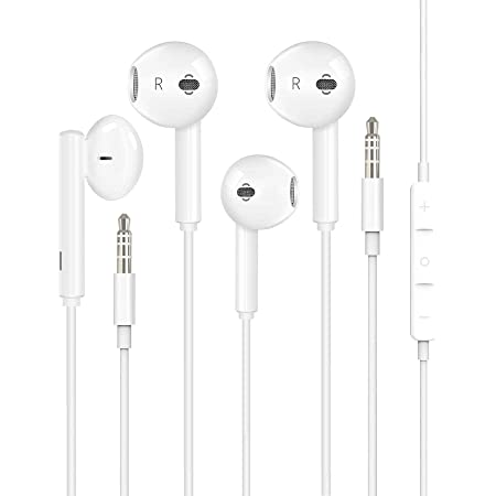2 Pack-Apple Earbuds//Headphones//Earphones with 3.5mm Wired in Ear Headphone Plug Apple MFi Certified Compatible with iPhone,iPad,iPod,Computer,MP3//4,Android Built-in Microphone /& Volume Control