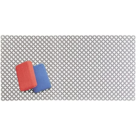 Non-Skid Dish Protector Mat for Kitchen, iDesign Pebblz Large Plastic Sink Grid
