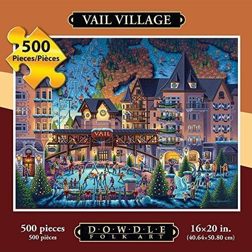 ventas directas de fábrica Jigsaw Puzzle - Vail Village 500 Pc Pc Pc By Dowdle Folk Art by Dowdle Folk Art  entrega rápida