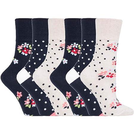 6 Pairs of Sock Shop Everyday Gentle Grip Socks Ladies 4-8 See Multi Variations and Designs