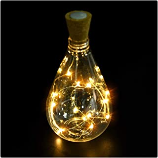 Kanzd Cork Shaped 15 LED Night Light Starry Lights Wine Bottle Lamp for Party Colorful (15 LED C)