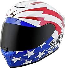 Scorpion EXO-R420 Helmet - Tracker (SMALL) (WHITE/RED/BLUE)