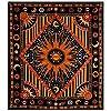 THE ART BOX Arazzo da Parete Psichedelico Hippie Sun Moon Trippy - Asciugamano da Spiaggia Etnico Indiano - 100% Cotone - Copridivano/Copriletto, Pareo, Multiuso, Arancione, 210x230 Cm #2