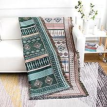 haoyunlai Manta de playa para acampar, manta de sofá, manta de estilo europeo, toalla de sofá con aire acondicionado, alfombra de verano de 90 cm x 240 cm