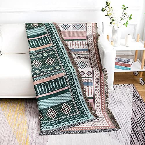 haoyunlai Funda para sillón de sofá, manta de línea para sofá, toalla de sofá de estilo europeo con aire acondicionado, alfombra de verano, 180 cm x 230 cm