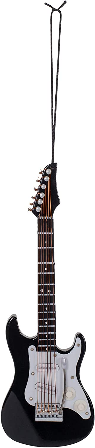 Broadway Gifts Black Electric Guitar Musical Instrument Christmas Ornament Decoration Music New