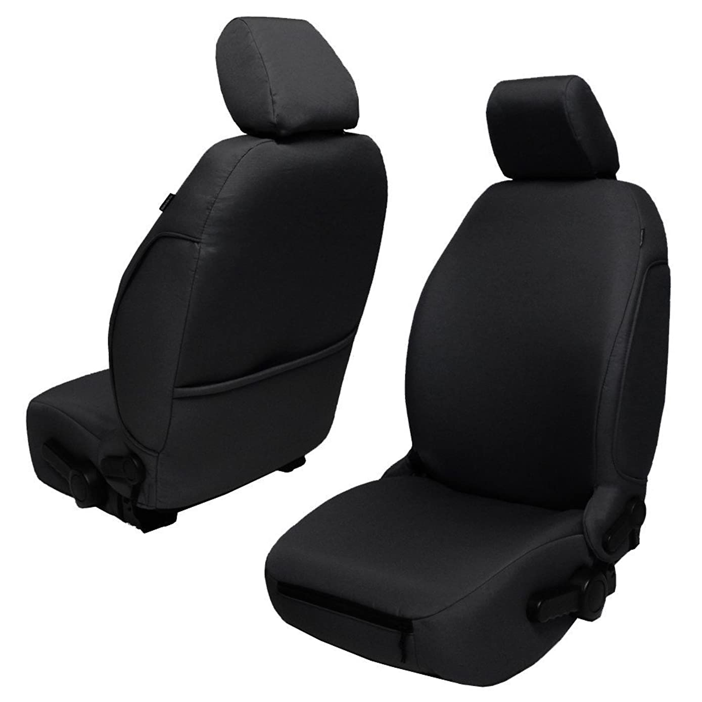 Bartact JKBC2013FPB - 2013-18 Base Line Performance Front Seat Covers (Pair) Jeep Wrangler JK and JKU (Black)