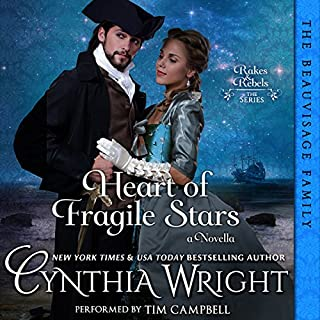 Heart of Fragile Stars     Rakes & Rebels: The Beauvisage Family, Book 1              By:                                                                                                                                 Cynthia Wright                               Narrated by:                                                                                                                                 Tim Campbell                      Length: 2 hrs and 54 mins     1 rating     Overall 5.0