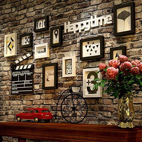 NYDZDM Photo Mur Américain Salon Décoration Chambre à coucher Cadre photo Combinaison Cadre photo Ensembles Café Creative Photo Mur
