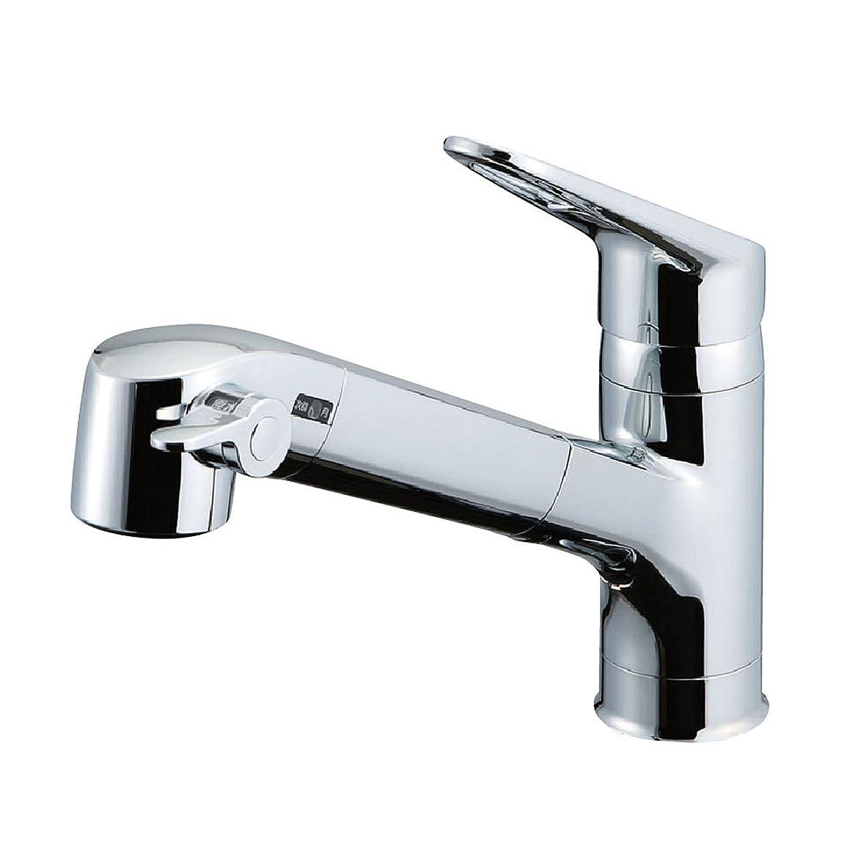 報復する環境に優しいパースLIXIL(リクシル) INAX キッチン用 台付 浄水器内蔵シングルレバー混合水栓 エコハンドル 浄水 微細シャワー整流 ホース引出し RJF-771Y