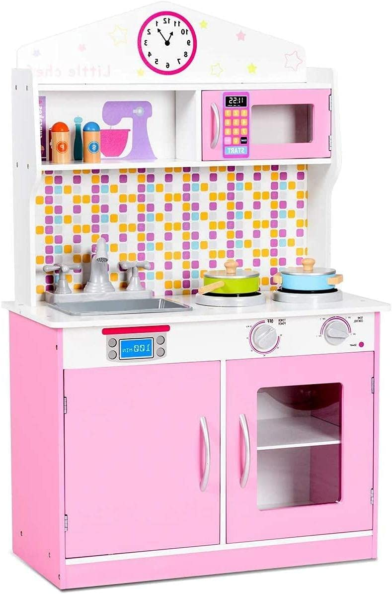 Fireflowery Kids Kitchen Playset Wooden Houston Mall Remo Cookware Ranking TOP6 Toy Set w