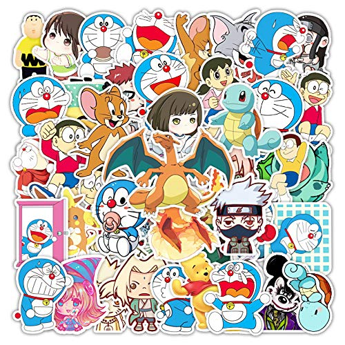 WUWEI Anime Dibujos Animados Doodle Pegatina Maleta Maleta Coche monopatín Impermeable teléfono decoración Pegatina 50 Uds