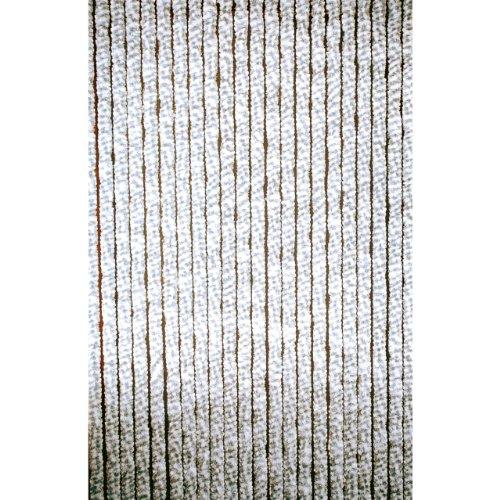 Lesli Living Rideau de porte chenille Gris/blanc 90x220cm