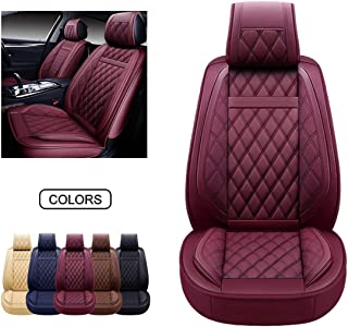 OASIS AUTO Leather Car Seat Covers, Faux Leatherette...