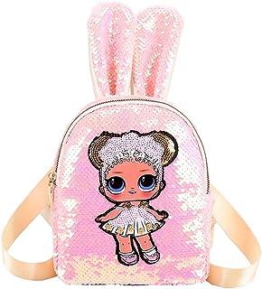Mochila Escolar con Estampado de muñecas de Lentejuelas LOL