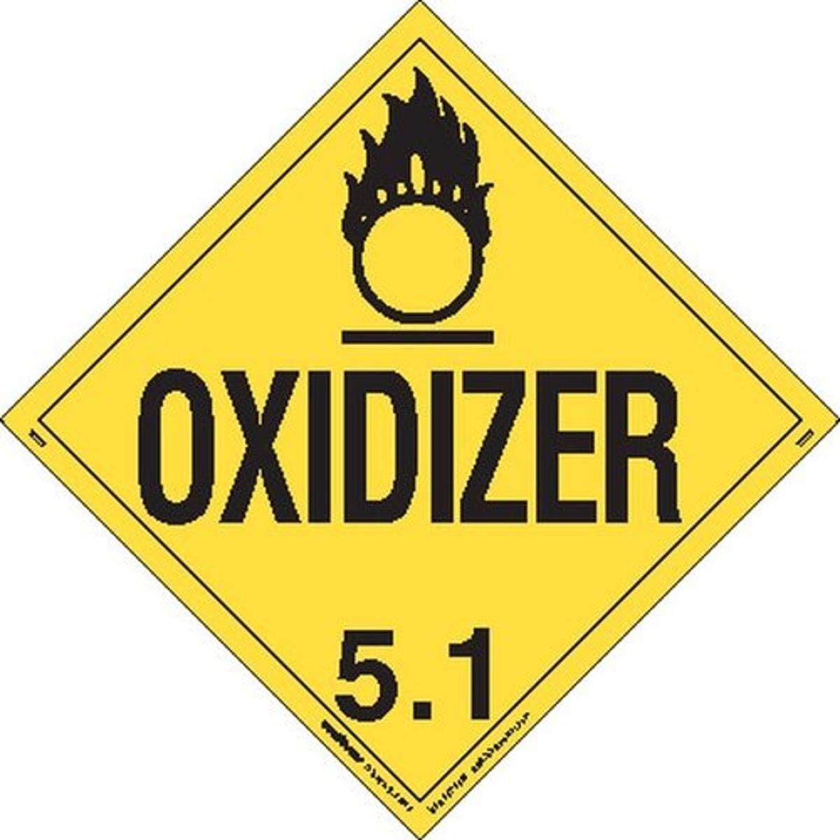 Labelmaster Quantity limited Max 55% OFF Z-EZ6 Oxidizer Hazmat Worded Removable E-Z Placard