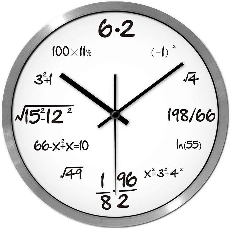 precios razonables BAOBAO BAOBAO BAOBAO Reloj de Parojo la Personalidad Creativa decoración decoración del hogar Moderno Lounge (plata Color Tamao  14 Pulgadas)  para proporcionarle una compra en línea agradable