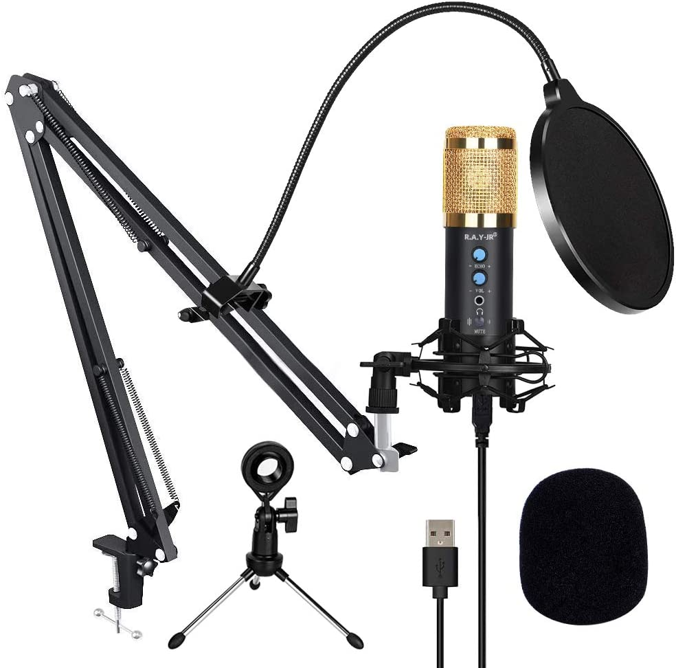 Podcast Microphone for Soldering unisex Computer USB MIC Reduction Noise with M