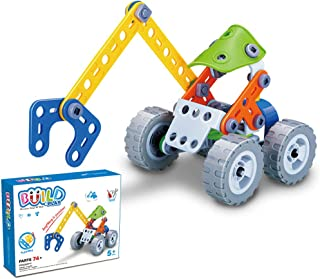 GGIENRUI Build and Play Toys Construction Engineering Learning Building Blocks for 5 Years Old and up Boys Girls Birthday 74pcs