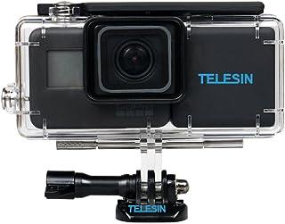 telesin 2300mAh baterías de Copia de Seguridad Batería de alimentación Cómodo batería ampliada de Mochila con Funda Impermeable Vivienda para GoPro Hero 6/5Accesorios