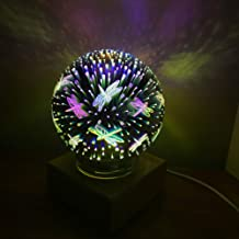 OUYAWEI Electronics Christmas Colorful 3D Magic Crystal Lamp Creative Home Romantic Bedroom Bedside Atmosphere Glass Lamp Shade Night Light 3W dragonfly