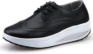 [OceanMap] 船型底ナースシューズ レディース ダイエットシューズ 厚底スニーカー 姿勢矯正 ダイエット 美脚 軽量 レースアップ ウォーキングシューズ 看護師 作業靴 歩きやすい 疲れない 婦人靴 厚底シューズ 大きい 22.5 25.5