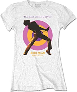 QUEEN クイーン (ボヘミアン・ラプソディ公開記念) - Fearless/Tシャツ/レディース 【公式/オフィシャル】