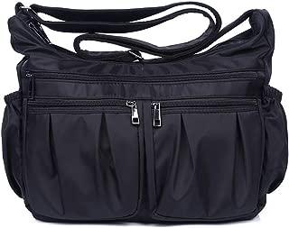 Crossbody Bags for Women Multi Pocket Shoulder Bag Waterproof Pocketbooks Lightweight Nylon Purse Handbags with Card Slots
