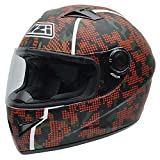 NZI Vital Graphics Motorradhelm, Camouflage/Dekoration, XS