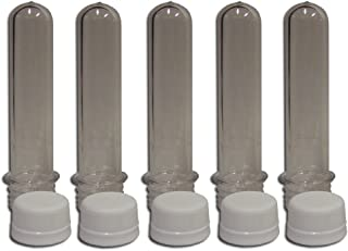 5col Rugged Geocache Waterproof Storage Tubes - Clear/Plastic, 5-pack