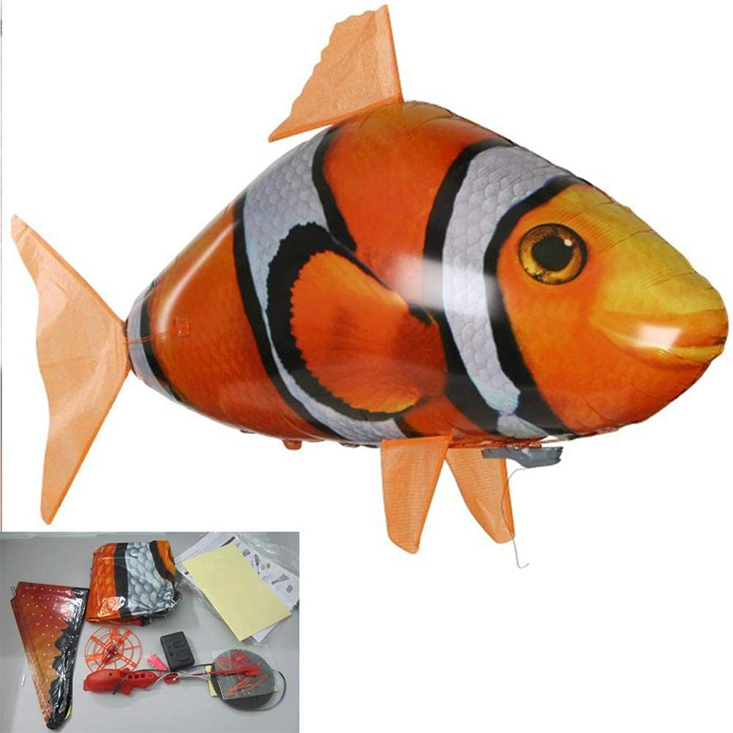Generic Remote Control Shark Toys Air Swimming Fish Infrared Rc Flying Air Balloons Nemo Clown Fish Kids Toys Gifts Party Decoration 2