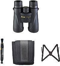 Nikon 7578 Monarch 5 12x42 Waterproof/Fogproof Roof Prism Binoculars Bundle Lens Pen & Essential Accessories (4 Items)