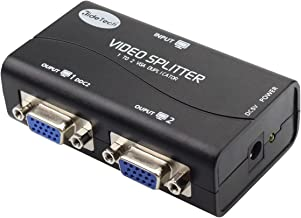 VGA Splitter 2 Port USB Powered Support 1920X1400 Resolution 250MHz Bandwidth for Screen Duplication