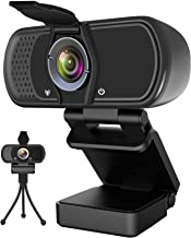 Webcam with Microphone,Hrayzan 1080P HD Webcam with Privacy Cover and Tripod,Streaming Computer Web Camera with 110 Degree...