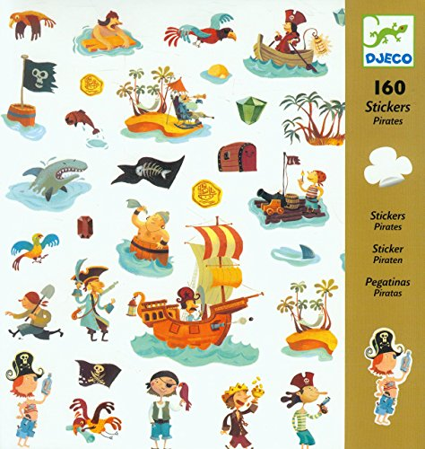 Djeco 022–01666–Stickers, Pirat