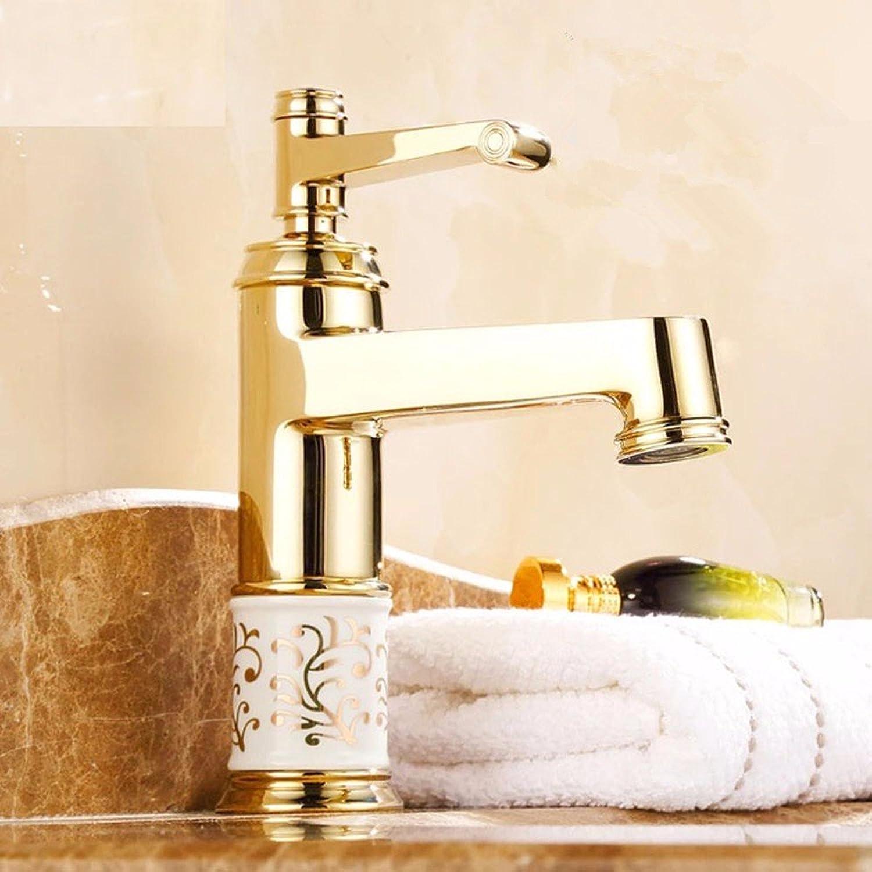 SHLONG Tap Copper Faucet Hot and Cold Water Continental Antique Copper Basin Faucet