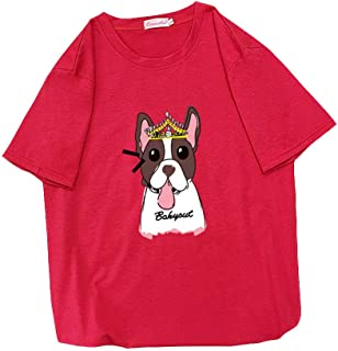 HAPFLY 6色 夏 ファッション ゆったり ラウンドネック メンズおよびレディースTシャツ トップス 無地 7分袖 tシャツ レディース