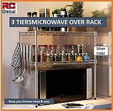 RC Global Microwave oven rack/Microwave Rack/Microwave oven Shelf/Microwave Shelf/Microwave Storage/Kitchen rack/kitchen O...