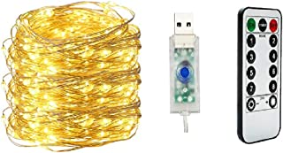 Fairy Light Waterproof Starry Firefly Copper Wire String Light,20M 200LED 8 Modes with Remote Control, for Christmas Weddi...