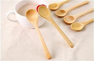 10 Pcs Handmade Small Wooden Spoon Honey Teaspoon Seasoning Coffee Tea Sugar Salt Jam Mustard Ice Cream Spoons